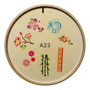 ネイルスタンプ#23 花,蝶,バブル マニキュアを使う簡単ネイルアート|neocolle