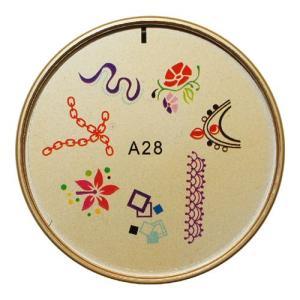 ネイルスタンプ#28 花 チェーン レース マニキュアを使う簡単ネイルアート|neocolle