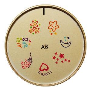 ネイルスタンプ#6 ハート,星,花,月 マニキュアを使うネイルアート|neocolle
