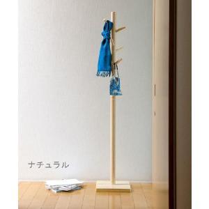 ●シンプルなポールハンガー ●インテリアになじむ天然木使用  [サイズ] 巾30 奥30 高160 ...