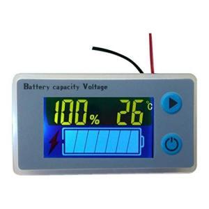 デジタル電圧計 バッテリー残量測定 温度表示機能 電圧モニター 12Vセットアップ済