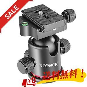 "Neewer 自由雲台 メタル製 360度回転可 1/4""プレートなど付 三脚 カメラなどに対応"