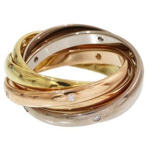 (カルティエ)Cartier トリニティ 15P ダイヤ 6連リング 8号 K18|neonet05