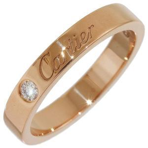 (カルティエ)Cartier 1Pダイヤ エングレーブド リング 7号(47) K18PG|neonet05