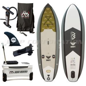 SUP 釣り フィッシング インフレータブル スタンドアップパドルボード AQUA MARINA アクアマリーナ DRIFT ドリフト ゴムボート クーラーボックス付き|neonet