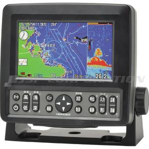 ホンデックス GPS 魚探 HE-601GPII 5型 ワイド カラー液晶 プロッター アンテナ内蔵 300W 200KHz 単周波|neonet