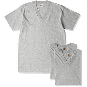 [グンゼ] インナーシャツ G.T.HAWKIN VネックTシャツ 3枚組 HK15153 メンズ グレー杢 日本LL (日本サイズ2L相当)|neosheep