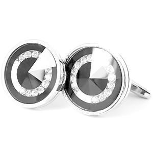MFYS Jewelry ブラック オニキス クリスタル メンズ カフス 【専用収納ケース付き】|neosheep