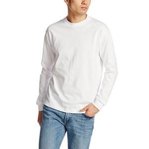 [ヘインズ] ビーフィー ロングスリーブ Tシャツ 長袖 BEEFY-T 綿100% 肉厚生地 無地 H5186 メンズ ホワイト L|neosheep