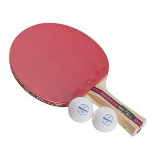 ニッタク(Nittaku) 卓球ラケット 貼り上がり ジャパンオリジナルプラス シェークハンド #1000 NH-5131 レッド×ブラック FL|neosheep