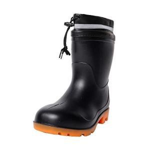 [コーコス信岡] 安全長靴 先芯入り PVC 耐油 ZIPLOA メンズ ブラック 24.5~25.0 cm 3E|neosheep