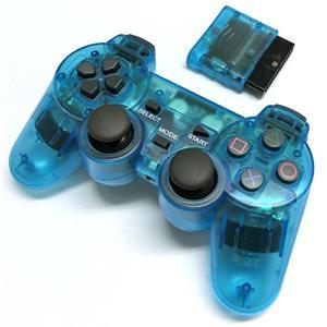 PS2 ワイヤレスコントローラー(クリアブルー) (プレステ2で使える2.4Ghz無線コントローラー)|neosheep