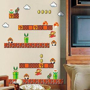 ファミコン スーパーマリオ ウォールステッカー HOME EVOLUTION Giant Super Mario [並行輸入品]|neosheep