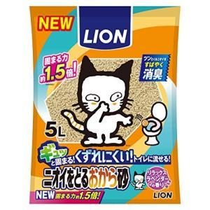 ライオン (LION) ニオイをとる砂 猫砂 ニオイをとるおから砂 5Lx6袋 (ケース販売) neosheep