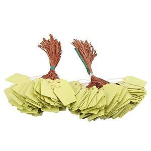 200枚 PVCクラフトタグ 3.5*2.5cm 値札 糸付き下げ札 麻糸付き 屋外 ギフトクラフト下げ札 ぶら下げ花、植物、種子、名札ラベルマーカー neosheep