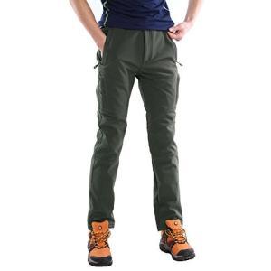 (スポする)Runwho メンズ ゴルフ登山ロングパンツ 防風防水防寒 ソフトシェル ロングパンツ M-XXXL (XL 春秋冬用 厚い グレー02(|neosheep