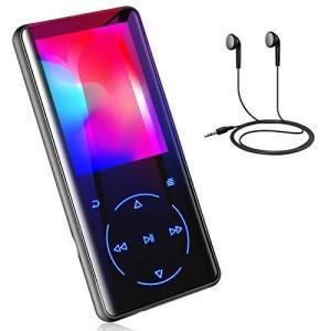 MP3プレーヤー Buletooth 5.0 音楽プレーヤー 超軽量 超 2.4インチ 3D曲面 ポータブルオーディオプレーヤー FMラジオ?タッチス|neosheep