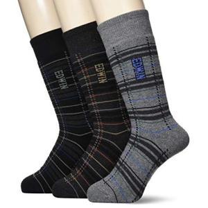 [グンゼ] ソックス EDWIN エドウィン 靴下 BODYFIRE ボディファイヤー パイル編 クルー丈 3足組 メンズ Aアソート 25-27|neosheep