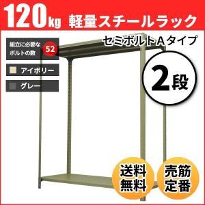 スチールラック 軽量120kg/段(セミボルトA) 表示寸法:高さ90×幅87.5×奥行45cm:2段(枚)自重(11.6kg) ・単体形式:業務用スチールラック スチール棚|neosteel