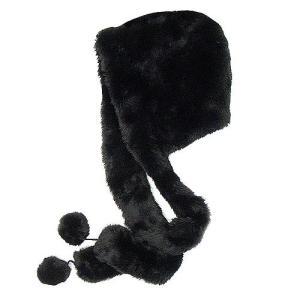 【帽子】フェイクファー ラップマフラー付 ブラック|neoworkgear
