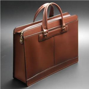 ビジネスバッグ メンズ 日本製 本革 軽量 大型 ブリーフケース 職人鞄 牛革 レザー 革 メンズ 男性用 紳士用 B4 A4 ダークブラウン|nep