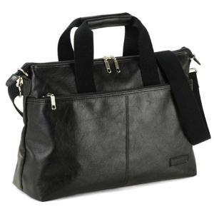 日本製 豊岡製 トートバッグ メンズ ショルダーベルト ビジネスバッグ 2way レザー 合成皮革 出張 旅行鞄 紳士用 男性用 A4 36cm 黒|nep
