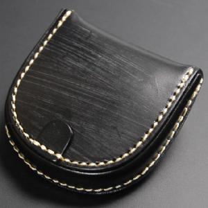 馬蹄形 コインケース 馬蹄型 ブライドルレザー 手縫い 日本製 ブラック nep