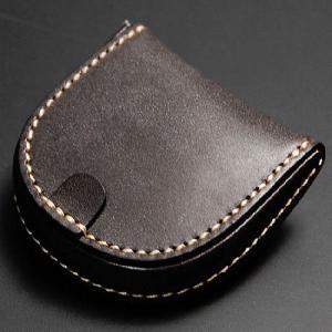 馬蹄形 コインケース 馬蹄型 ブライドルレザー 手縫い 日本製 チョコ nep