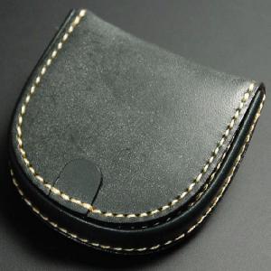 馬蹄形 コインケース 馬蹄型 ブライドルレザー 手縫い 日本製 グリーン nep