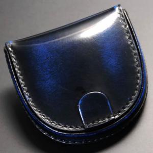 馬蹄形 小銭入れ 馬蹄型 コインケース 馬蹄型 小銭入れ コインケース 紳士物革(レザー )本革 メンズ 男性用 ロイヤルブルー|nep