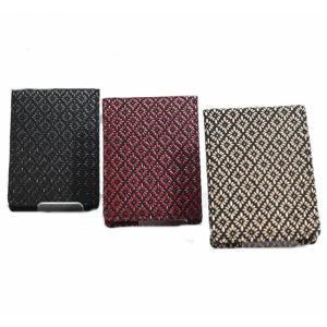 日本製 印伝 小銭入れ コインケース ロングBOX型 鹿革 メンズ・レディース・紳士用・男性・女性 財布・サイフ