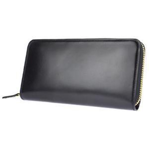 コードバン 長財布 小銭入れあり メンズ財布 長財布 ラウンドファスナー ジップ コードバン財布 カード12枚 馬革 本革 ブラック