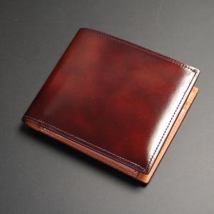 日本製 財布メンズ 二つ折り 二つ折り財布 小銭入れあり メンズ 本革 牛革 総革 ボックス式 BOX型小銭入れ アドバンレザー ワイン|nep