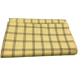 3mカット生地(寝具用生地)日本製チェックプリント クリーム系 平織 綿70%ポリエステル30%(160cm幅 x 3m)|nerumono-ya