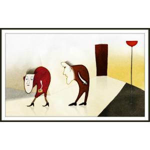 絵画「あら、奥さんったら」 ジクレー版画 ヨーロッパで大人気 ネルバ作 110-191|nerva