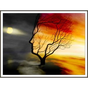絵画「夜になる瞬間」 ジクレー版画 ヨーロッパで大人気 ネルバ作 111-206|nerva