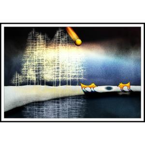 絵画「きっとここであってるよね」 ジクレー版画 ヨーロッパで大人気 ネルバ作 112-210|nerva