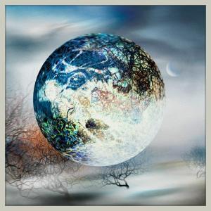 絵画「青い球体」 ジクレー版画 ヨーロッパで大人気 ネルバ作 115-259|nerva