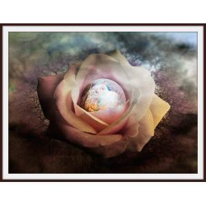 絵画「花芯から生まれる」ジクレー版画 ヨーロッパで大人気 ネルバ作 115-264|nerva
