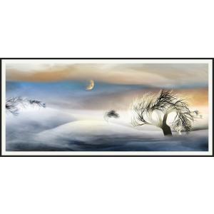 絵画 ネルバ作「雪どけ前のなごり雪」116-272 ジクレー版画 2016年製作 限定18枚|nerva