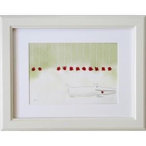北欧絵画 ネルバ作「失敬、タンゴを踊るためなので」額付き 日本限定作品 ジクレー版画 ヨーロッパで大人気 216-151|nerva