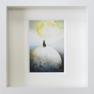 絵画 ネルバ作「夢はもっと大きく」額付き 2016年製作 限定64枚 ジクレー版画 送料無料 216-269|nerva