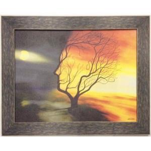 額縁付き 絵画「夜になる瞬間」 ジクレー版画 ヨーロッパで大人気 ネルバ作 311-206|nerva