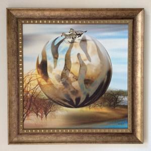 額縁付き 北欧絵画 「自由な一日」ジクレー版画 ヨーロッパで大人気 ネルバ作 315-261|nerva