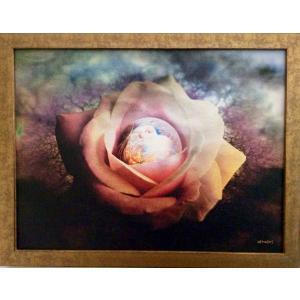 額縁付き 絵画「花芯から生まれる」ジクレー版画 ヨーロッパで大人気 ネルバ作 315-264|nerva