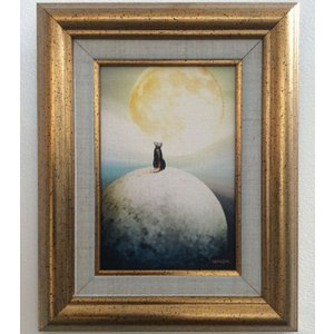 額縁付き 絵画「夢はもっと大きく」ジクレー版画 ヨーロッパで大人気 ネルバ作 316-269|nerva