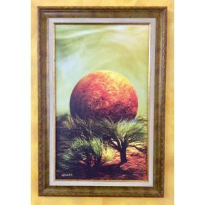 額縁付き 絵画 ネルバ作「どこか暖かいところ」316-271 ジクレー版画|nerva