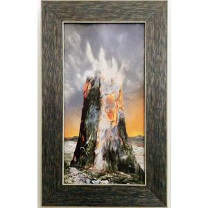額縁付き 絵画 「命みなぎる岩」317-303 ネルバ作 ジクレー版画 北欧アート|nerva