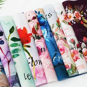 【カットクロス】Water color Flower (ウォーター カラーフラワー)(生活防水) 【 商用利用可 】|nesshome