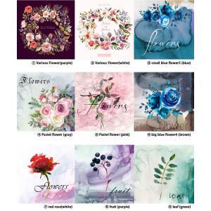 【カットクロス】Water color Flower (ウォーター カラーフラワー)(生活防水) 【 商用利用可 】|nesshome|04